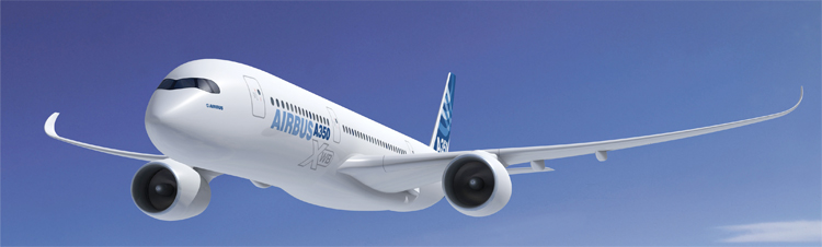 Computer rendering of Airbus A350 XWB