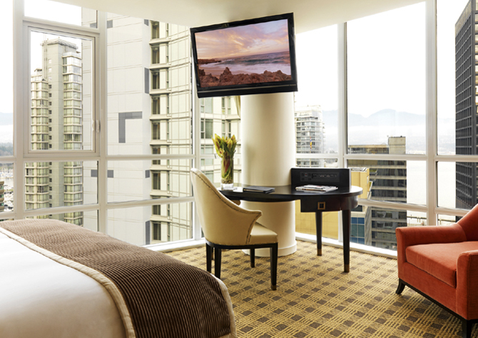 Loden guestrooms offer spectacular city views
