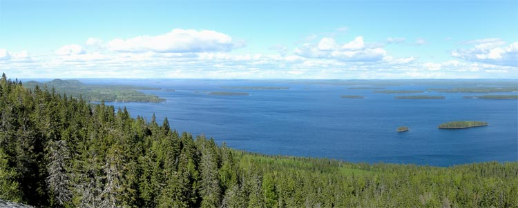 Lake Pielinen in Koli National Park, Finland